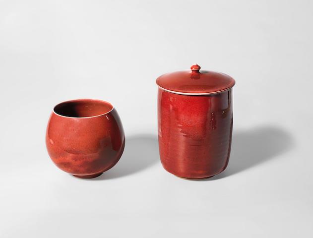 Rupert Spira (British, 1960-) A Vase and a Jar and Cover, circa 1995