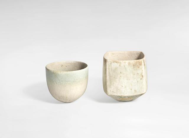 John Ward (British, 1938-) Two Vases, circa 1990