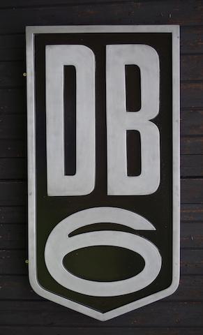 An Aston Martin 'DB6' garage display emblem,