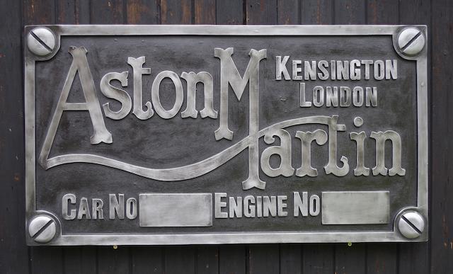 An 'Aston Martin Chassis Plate' garage display emblem,