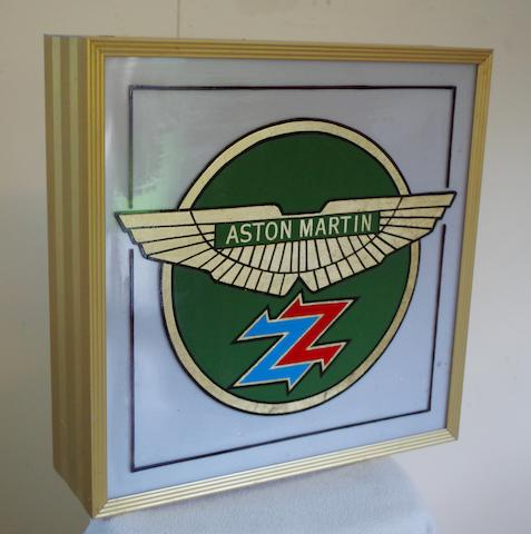 A 'Carrozzeria Zagato' light-box sign,