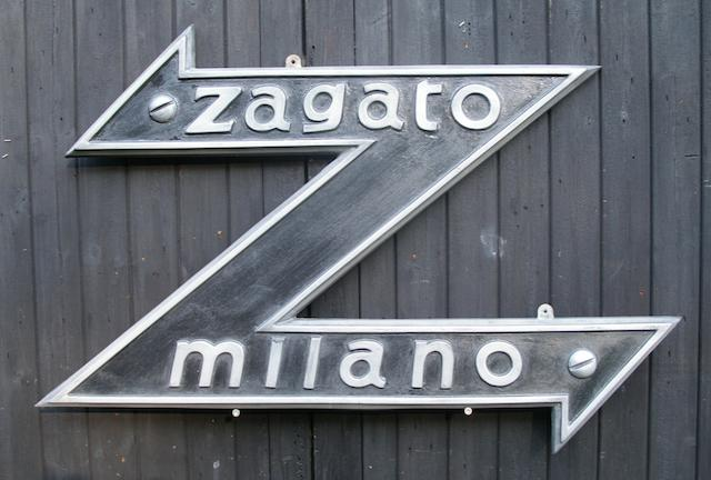 A 'Zagato Milano' garage display emblem,
