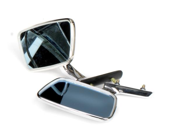 A pair of wing mirrors for an early Aston Martin DBS,   ((2))