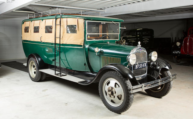 <b>1929 Ford Model AA Truck Bus</b><br />Engine no. CAP7329 (see text)