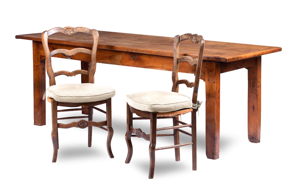 A 19th century French farmhouse fruitwood table