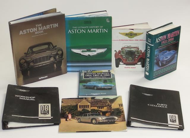 A sales brochure, workshop manual and parts catalogue for Aston Martin DB5,   ((8))