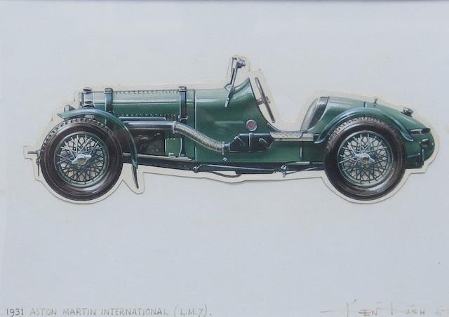 Ken Rush (British 1931-), '1931 Aston Martin International' an original Profile Publications artwork,  ((2))