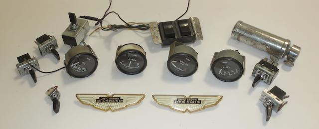 Four dials and gauges removed from an Aston Martin DBS V8,   ((Qty))
