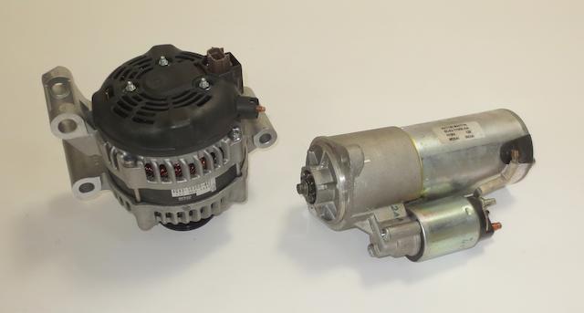 An alternator and a starter motor for Aston Martin DB9,   ((2))