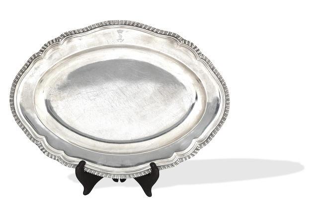 An early George III silver tray by J. Parker, I & E. Wakelin, London 1765
