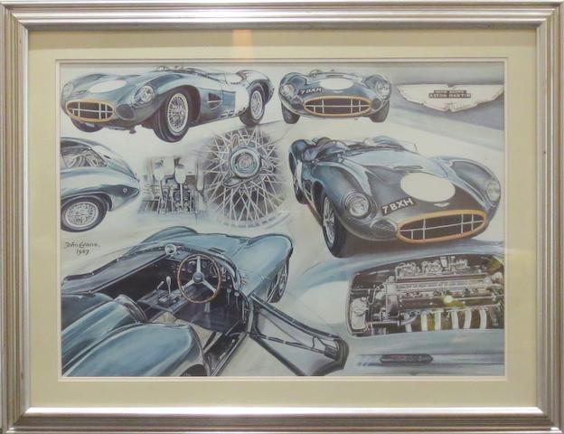 'Aston Martin DB2/2', a print after John Evans,