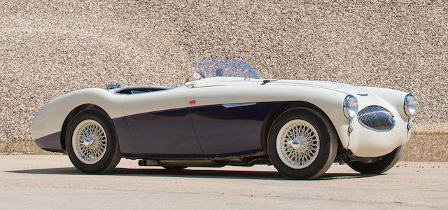 The ex-Jerry Leonard, present owner since 1995,1955 Austin-Healey 100S Sports Racing Two-Seater  Chassis no. AHS 3608 Engine no. 1B222718