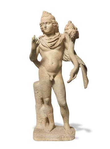 A Roman marble statue of Harpocrates