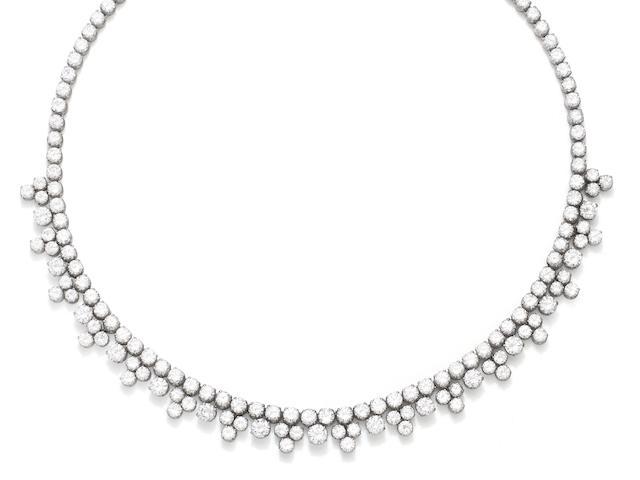 A diamond necklace, circa 1950