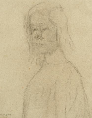 Gwen John (British, 1876-1939) Portrait of a Girl