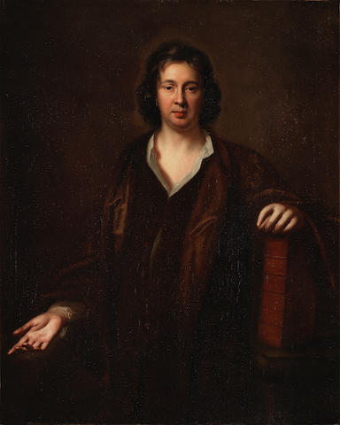 Mary Beale (Barrow 1633-1699 London) Portrait of Charles Beale (1632-1705), half-length, seated in a brown gown