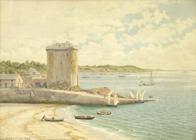 John Mulcaster Carrick (British, 1833-1896) The Solidor - St Servan, St Malo