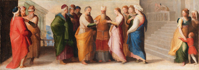 Follower of Domenico Beccafumi (Montaperti near Siena circa 1486-1551 Siena) The Marriage of the Virgin