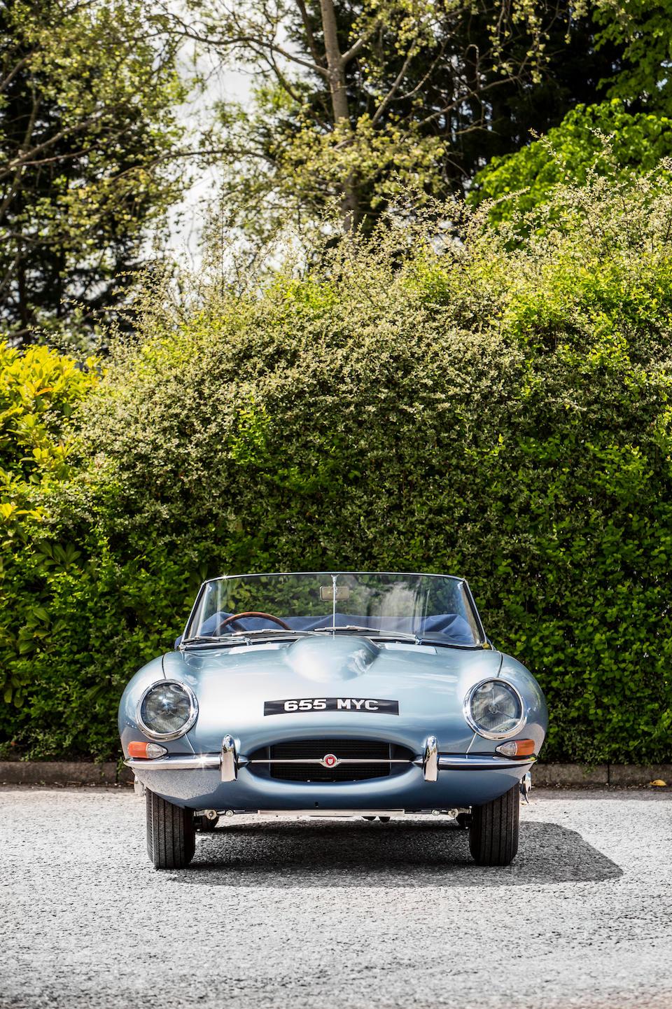 The ex-Jaguar Demonstrator, 64th production,1961 Jaguar E-Type Series 1 'Flat Floor' 3.8-Litre Roadster  Chassis no. 850064