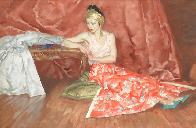 Sir William Russell Flint, RA, PRWS (British, 1880-1969) Miranda posing