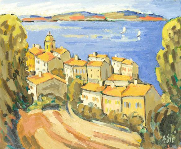 Henri Sie (French, born 1939) 'St Tropez' unframed