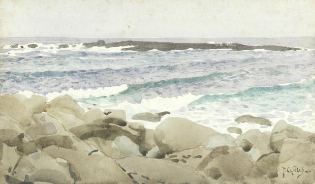 Thomas Cooper Gotch (British, 1854-1931) Cornish seascape