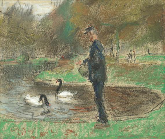 Isaac Israels (Dutch, 1865-1934) In de Haagsche Dierentuin