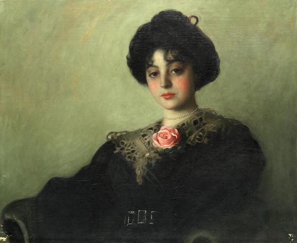 Continental School (19th Century) Portrait of a Lady unframed