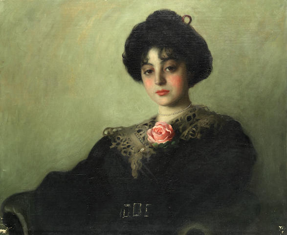 Continental School (19th Century) Portrait of a Lady unframed