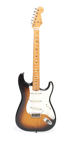 Overend Watts/Mott The Hoople: A 1954 'Hardtail' Fender Stratocaster, believed the earliest of its type to be shipped,