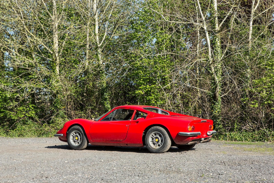 Property of a deceased's estate,1972 Ferrari Dino 246GT Berlinetta Project  Chassis no. 05328