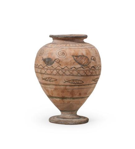 A Coptic painted pottery jar