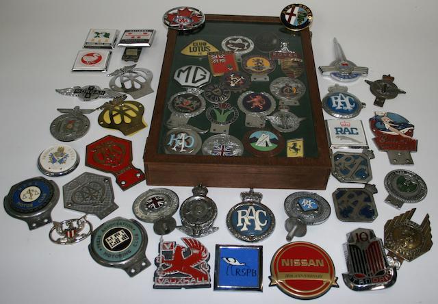 Assorted enamel motoring badges,  ((Qty))