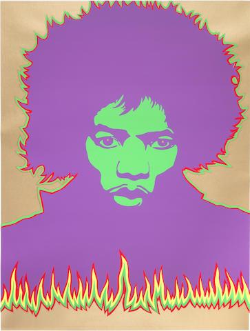 Larry Smart (British, b.1945 - d.2005): A Jimi Hendrix Fire poster, 1967,