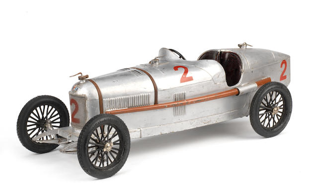 A rare clockwork tinplate model of an Alfa Romeo P2, by CIJ, French, 1930s,