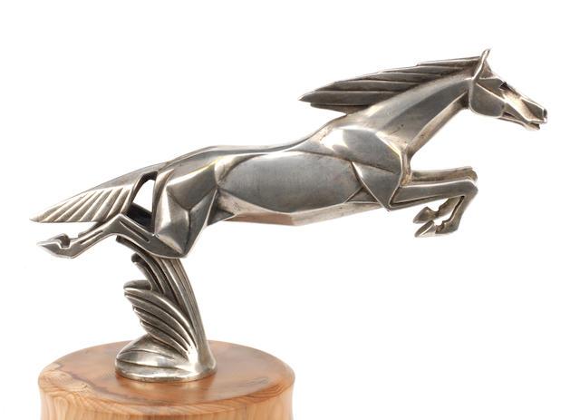 A fine Art Deco 'Leaping Horse' mascot by Casimir Brau, French, circa 1925,