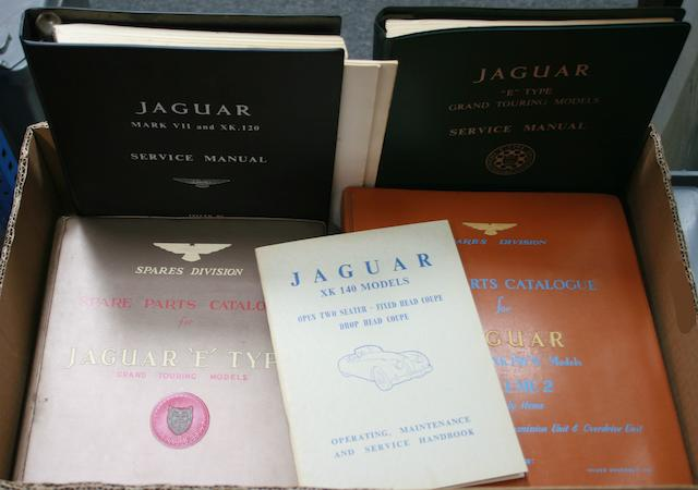Assorted Jaguar Spare Parts Catalogues and Service Manuals,  ((Qty))