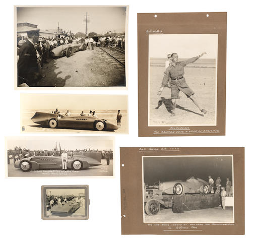 A collection of Malcolm Campbell and Bluebird photographs,  ((Qty))