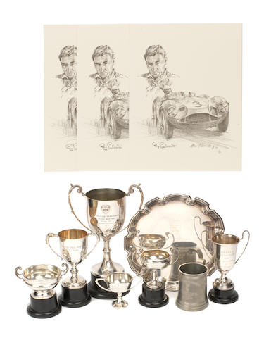 A collection of trophies awarded to Roy Salvadori,   ((Qty))