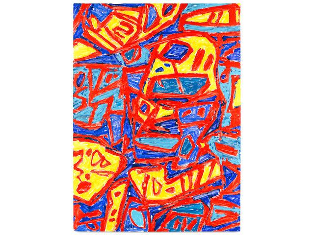 Jean Dubuffet (French, 1901-1985) Mire G 13 (Bolivar) 1983