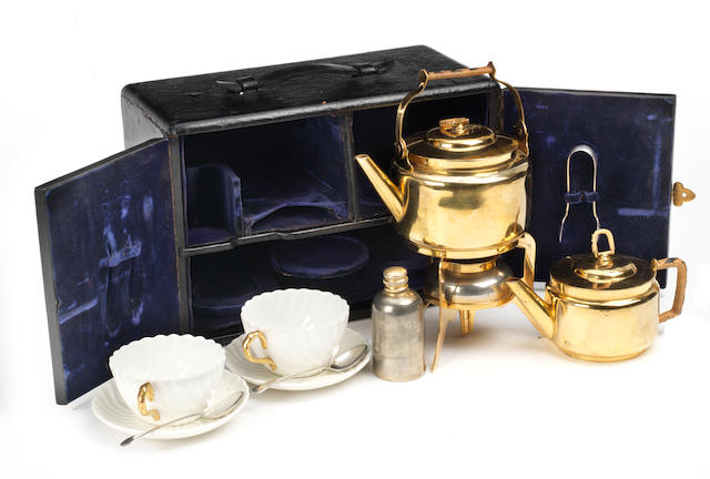 A Christopher Dresser design cased tea-set for two persons, circa 1903,
