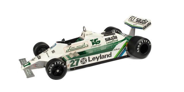 A 1:4 scale sponsor's model of Alan Jones' 1980 Williams FW07B/04,