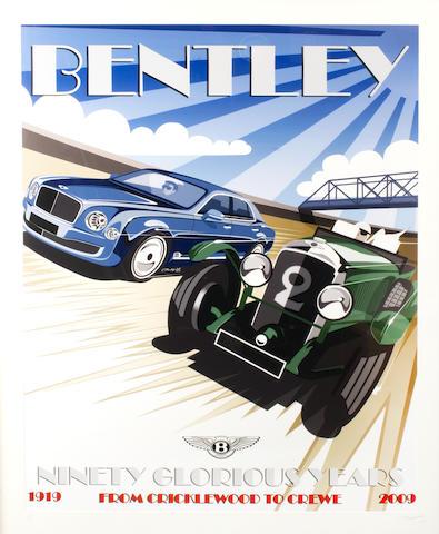 """Crispin Marshfield; """"Art Deco Poster"""" Bentley artwork by Bentley Designer,"""