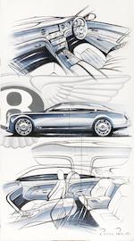 "Robin Page, ""Bentley Mulsanne"" artwork by Bentley Designer,  ((4))"