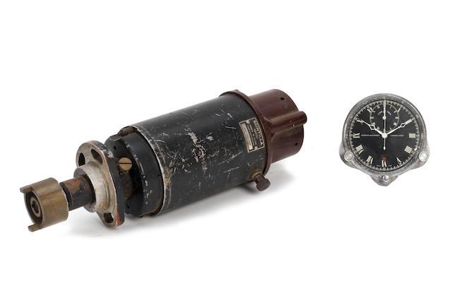 "A Scintilla ""Vertex"" 8-Cylinder magneto and a Smiths car clock to suit pre-war Bugatti,   ((2))"