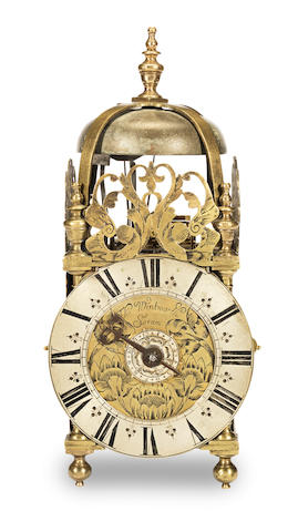 A late 17th century lantern clock of small size Thomas Wentworth, Sarum (Salisbury)