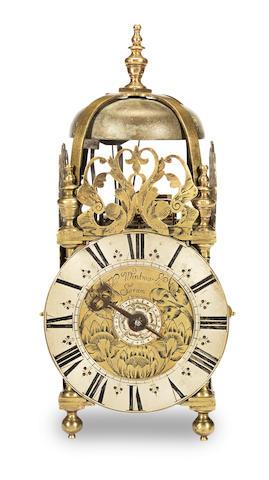 A late 17th century lantern clock of small size Thomas Wentworth, Sarum (Salisbury)