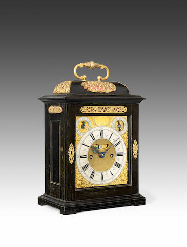 A fine late 17th century ebony veneered quarter repeating table clock Thomas Tompion, London, number 244