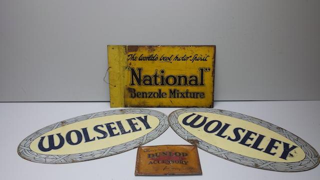 Two Wolseley showroom signs, circa 1950s  ((4))