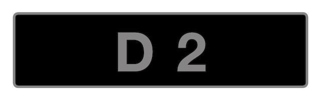 UK Vehicle registration number 'D 2',